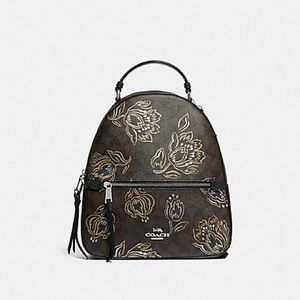 JORDYN BACKPACK IN SIGNATURE CANVAS WITH TULIP